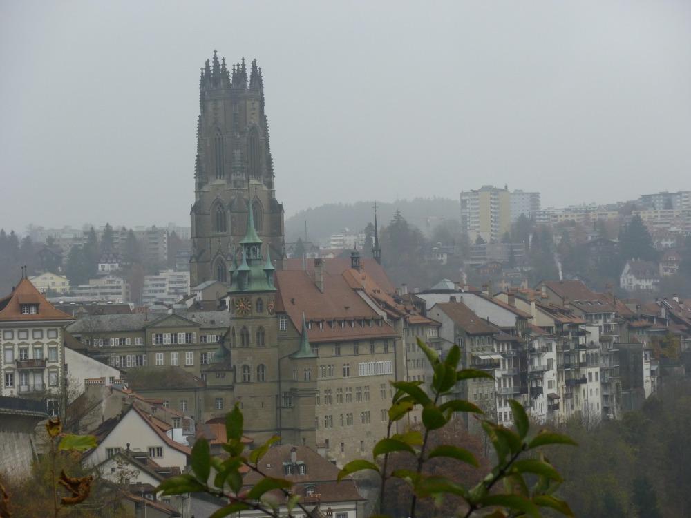 Фрибург в тумане