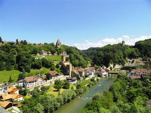 Фрибург и река Саане