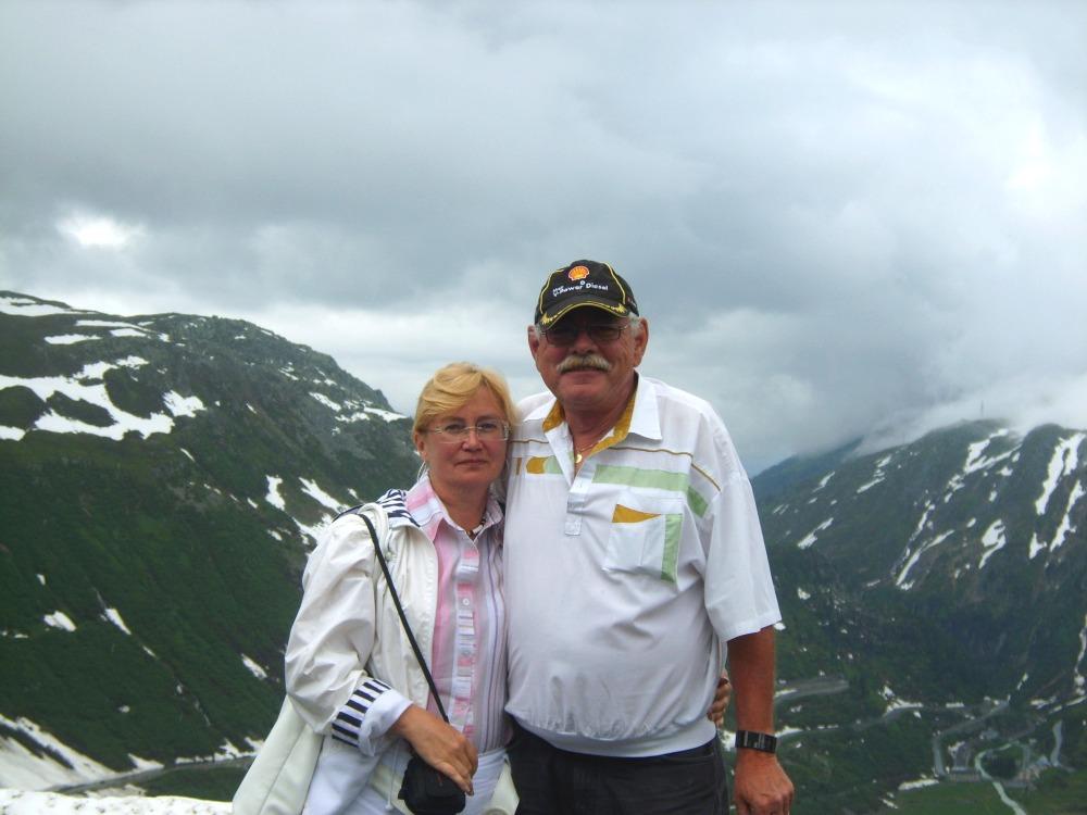 Фото Рене, Ирина и горы