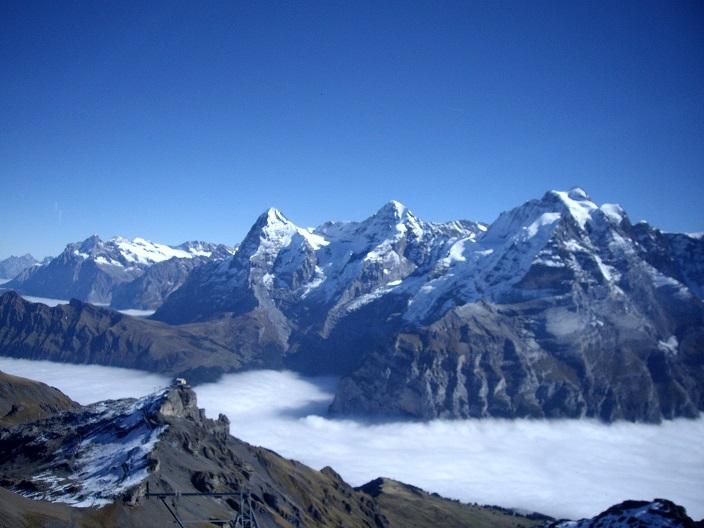 Три знаменитые вершины Альп